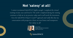 Susan Hunter is a graduate of the SalesSPACE NeuroInfluence Sales Intensive 3-day Virtual Sales Training